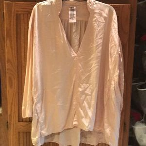 Free people oversized blouse with pockets